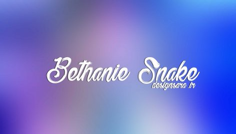 فونت انگلیسی Bethanie Snake