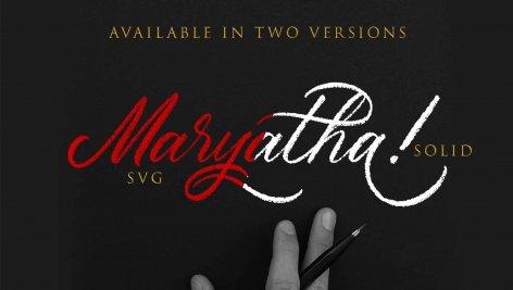 فونت انگلیسی Maryatha SVG
