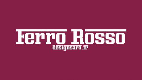 فونت انگلیسی Ferro Rosso