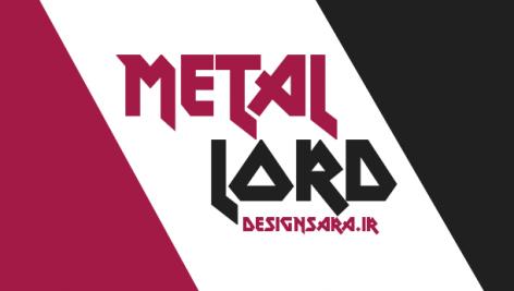 فونت انگلیسی metal lord