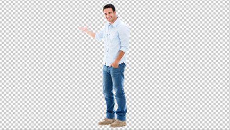 تصویر بدون بک گراند مرد با لباس اسپرت