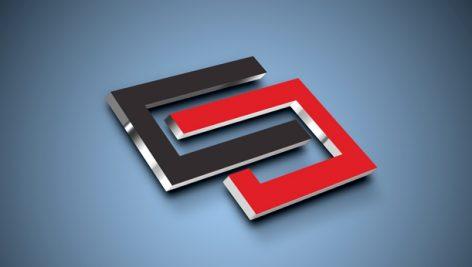 موکاپ نمایش سه بعدی لوگو