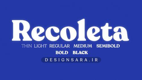 فونت انگلیسی Recoleta