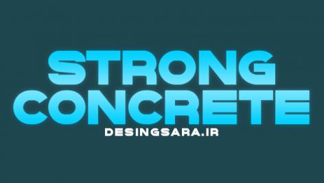 فونت انلگیسی StrongConcrete