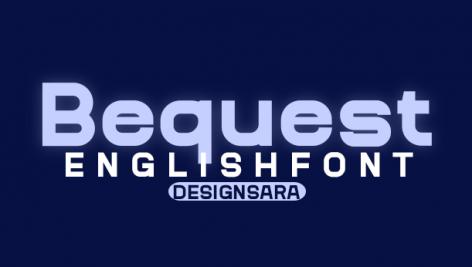 فونت انگلیسی Bequest