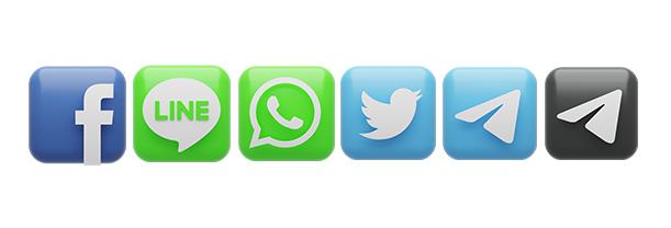 وکتور سه بعدی شبکه های اجتماعی