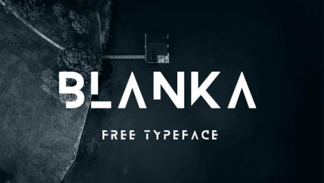 فونت انگلیسی blanka