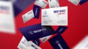 موکاپ لایه باز نمایش کارت ویزیت