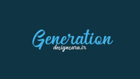 فونت انگلیسی Generation