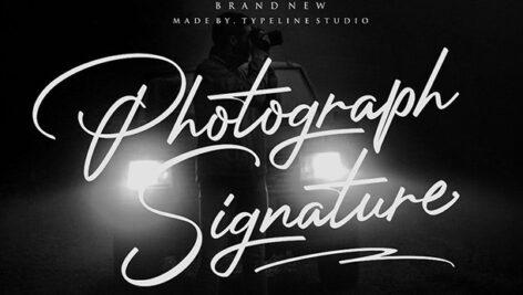 فونت انگلیسی Photograph Signature