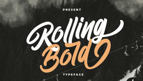 فونت انگلیسی Rolling Bold