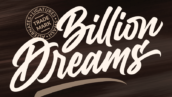 فونت انگلیسی Billion Dreams