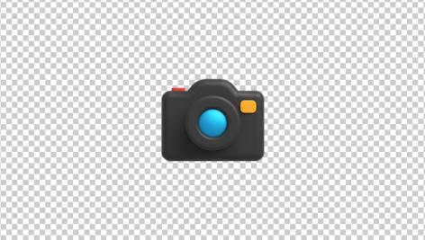 آیکون سه بعدی دوربین عکاسی سیاه
