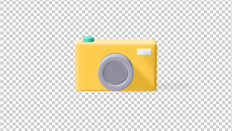آیکون سه بعدی دوربین عکاسی زرد