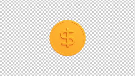 آیکون سه بعدی سکه