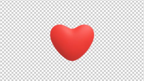 آیکون سه بعدی قلب