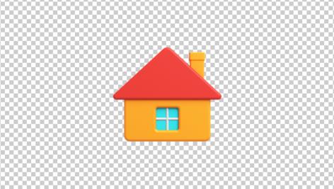 آیکون سه بعدی خانه