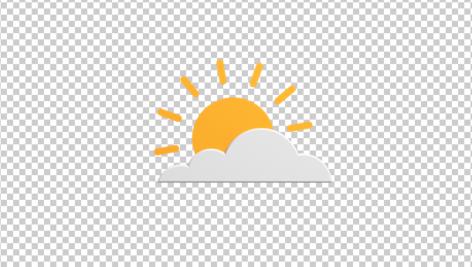 آیکون سه بعدی آب و هوا