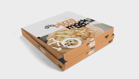 لایه باز موکاپ جعبه پیتزا
