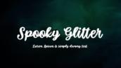 فونت انگلیسی Spooky Glitter